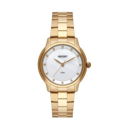 Relógio Orient Feminino Dourado com Pedra