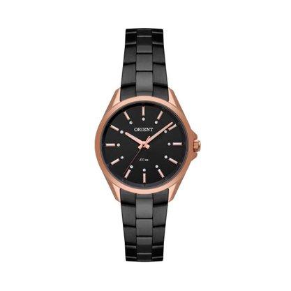 Relógio Orient Feminino Preto/Rose