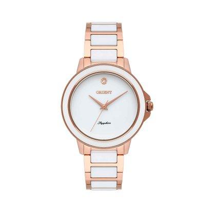 Relógio Orient Feminino Rose e Branco