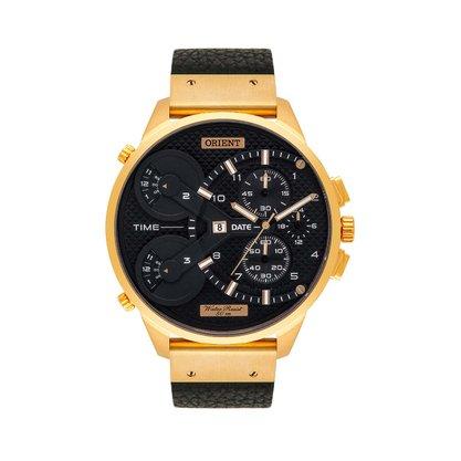 Relógio Orient Masculino Cronógrafo Dourado