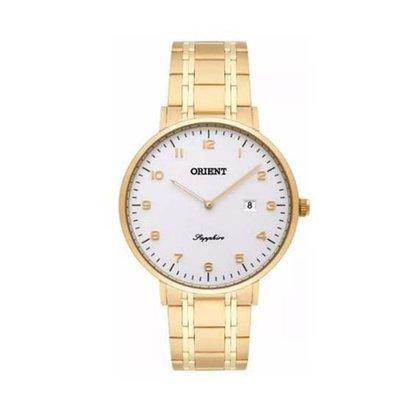 Relógio Orient Masculino Dourado com Calendário