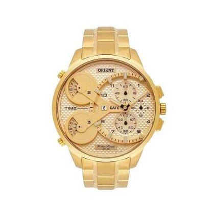 Relógio Orient Masculino Dourado XL