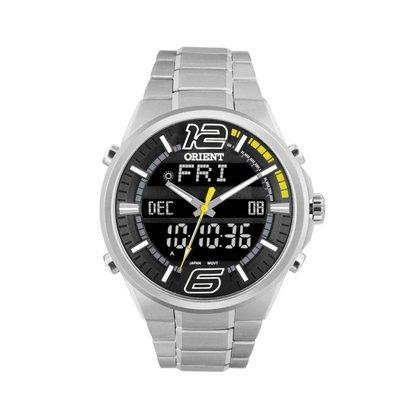 Relógio Orient Masculino Prata Anadigi