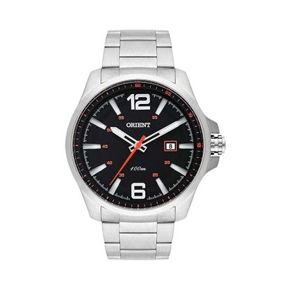 Relógio Orient Masculino Prata Calendário