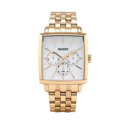 Relógio Orient Unissex Dourado Calendário