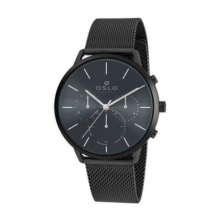 Relógio Oslo Unissex Cronógrafo Preto