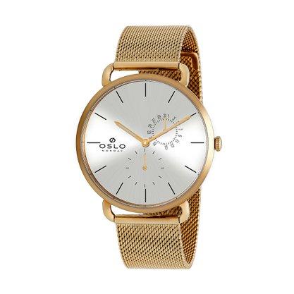 Relógio Oslo Unissex Dourado