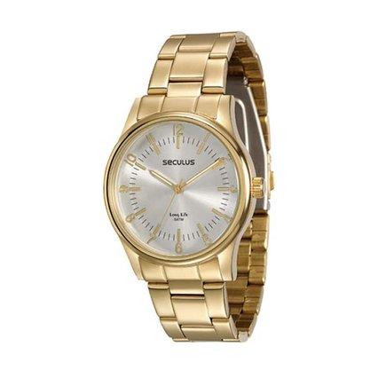 Relógio Seculus Feminino Dourado
