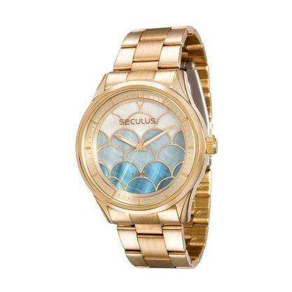 Relógio Seculus Feminino Dourado (novo com avaria)