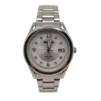 Relógio Seculus Feminino Prata Long Life