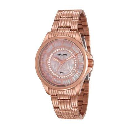 Relógio Seculus Feminino Rose