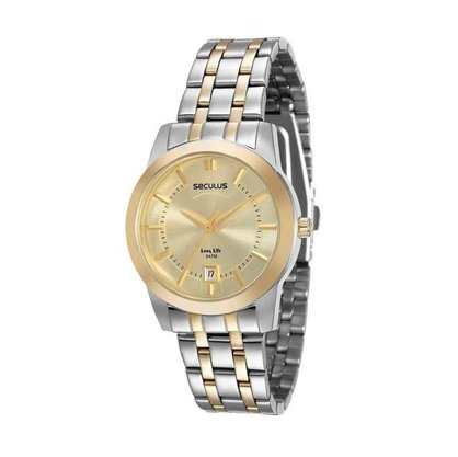 Relógio Seculus Unissex com Calendário