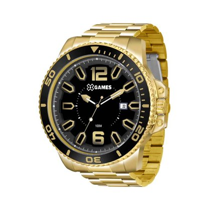 Relógio X-Game Masculino Dourado