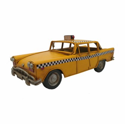 Taxi Metal Decorativo Amarelo