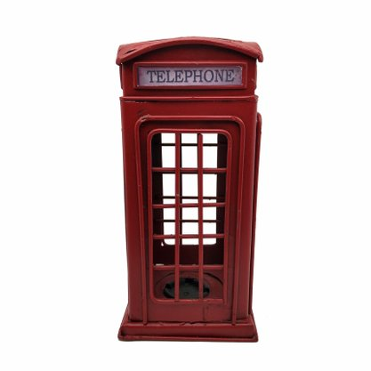 Telefone Londres Metal Cofre
