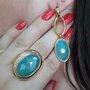 Anel Semi Jóia Pedra Azul Citrino