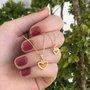 Colar Semi Jóia Dourado Coração