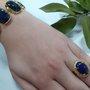 Pulseira Semi Jóia Pedras Azul