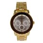 Relógio Lince Feminino Dourado Calendário
