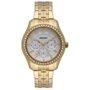Relógio Orient Feminino Dourado com Pedras
