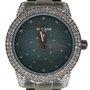 Relógio Seculus Feminino Preto com Pedras