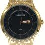 Relógio Seculus Masculino Dourado com Calendário